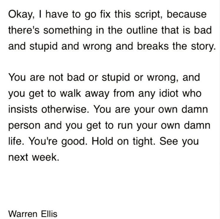 You Are Not Stupid Warren Ellis
