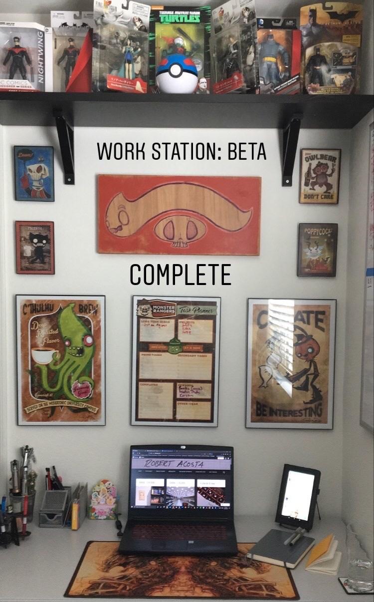 Steam Crow Art Desk