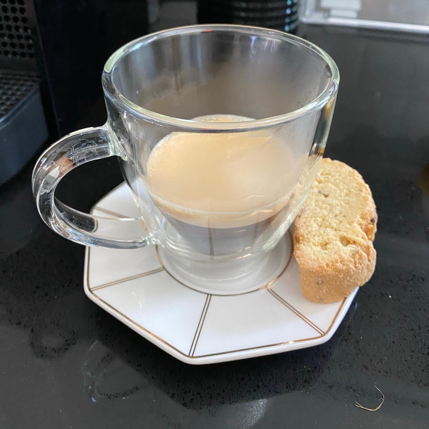 nespresso capsule and la dolce vita biscotti