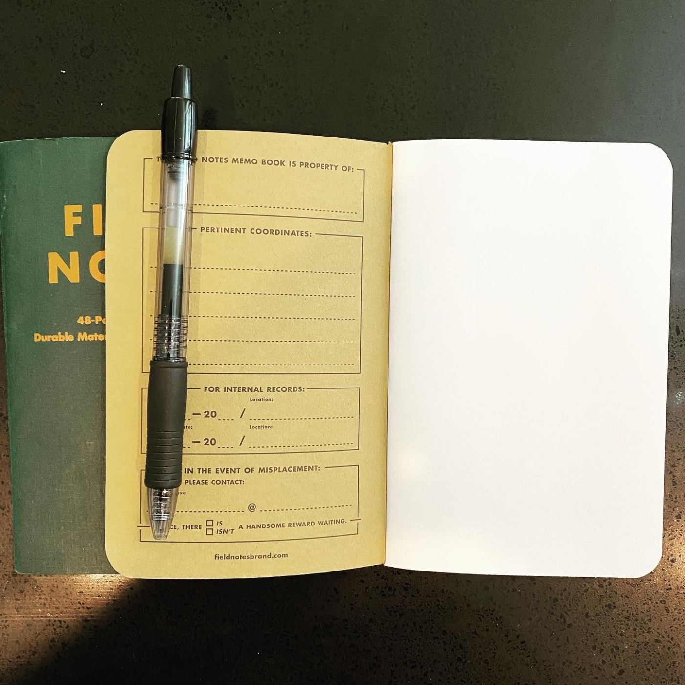two field notes books